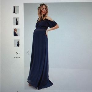 ASOS navy maternity bridesmaid dress